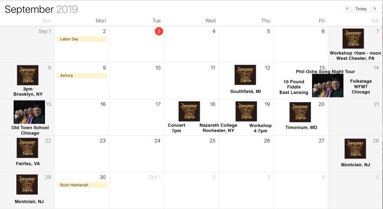 September Web Calendar